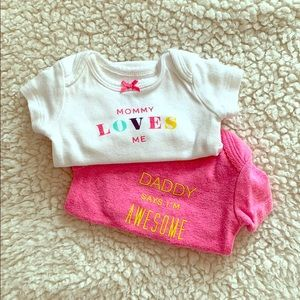 Newborn mommy & daddy onesie set 👩‍❤️‍💋‍👨